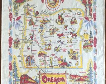 Vintage Oregon Tablecloth