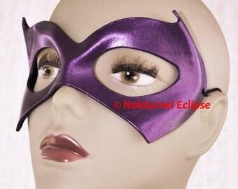 Batgirl Purple Leather Mask Gotham Superhero Harley Quinn Comic Con Batman Alicia Silverstone Cosplay Halloween Costume