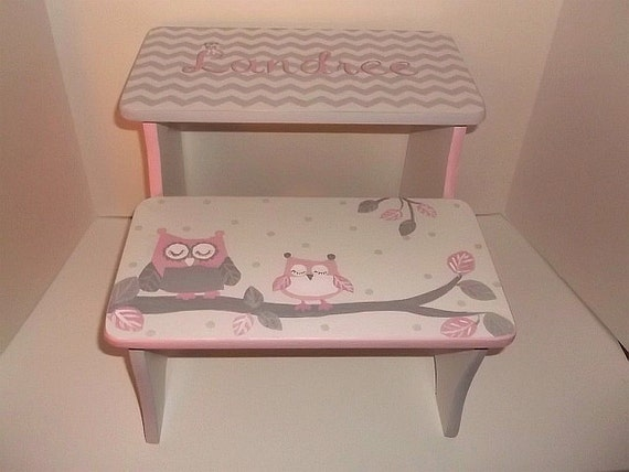 Kids Baby Steps Amp Stools Benches Custom Elephants Pink