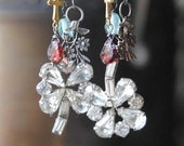 Sparkle Clovers And Charm EARRINGS