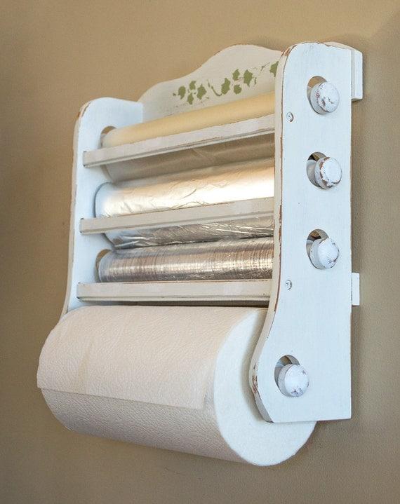 Shabby Chic Kitchen Dispenser Wax Paper Foil Plastic Wrap