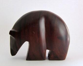 Carved Ironwood Bear Southwestern/Danish Modern Style