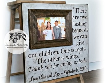 Parents Thank You Gifts Wedding Personalized Picture Frame