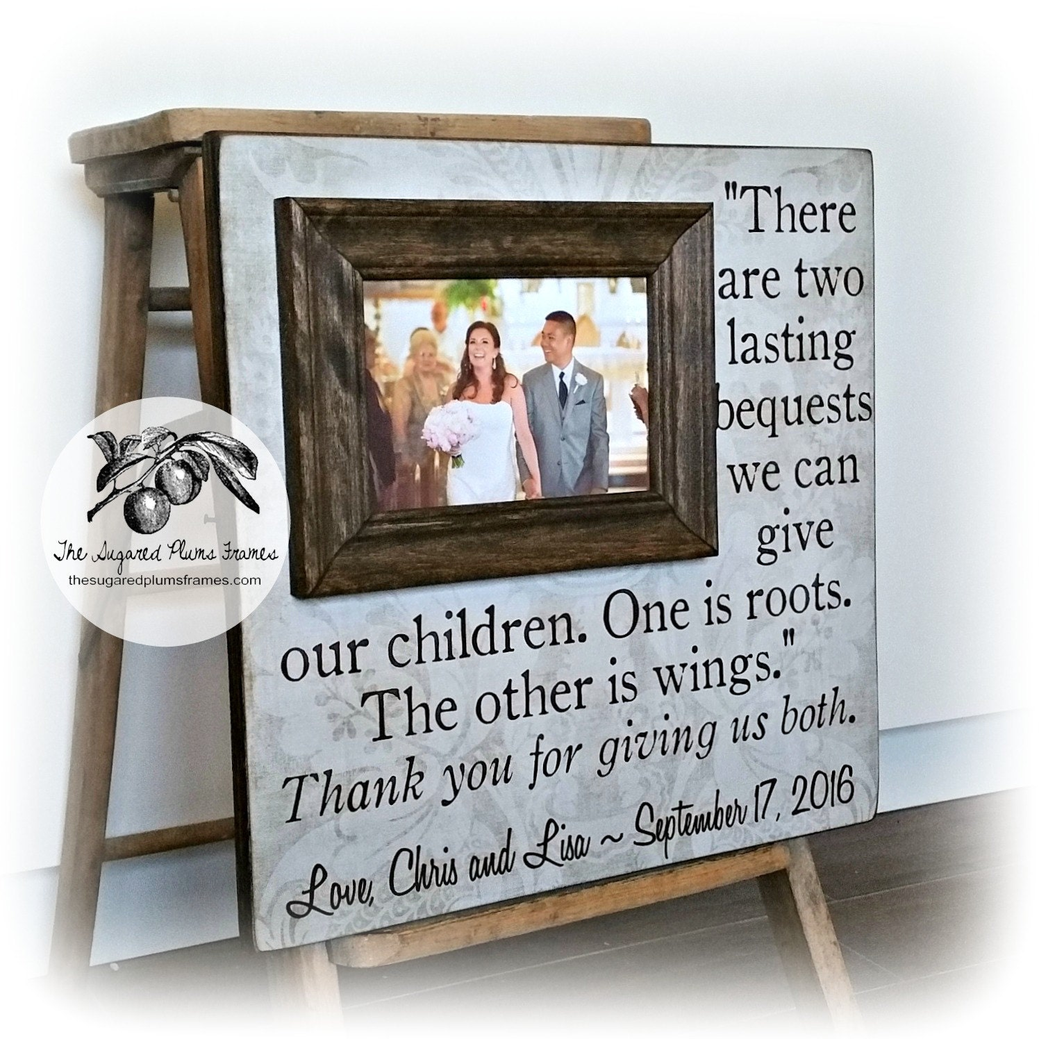 Gifts for parents on wedding day parents of the bride gift for Great wedding gifts for parents