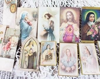 12 Solace Cards, Religious Ephemera, Religious Book Marks, Vintage Church Cards   -  C