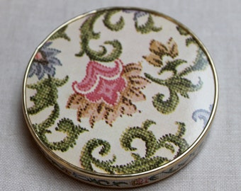 Faux Needlepoint Compact Mirror with stand