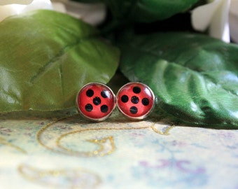 Spotted Ladybug Earrings
