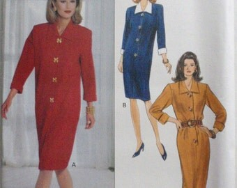 Jessica Howard Easy Sewing Pattern - Loose Fitting Snap Front Dress - Butterick 3061 - Sizes 14-16-18, Bust 36 - 40, Uncut