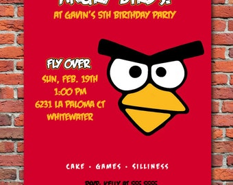 Angry Birds Party Invitation *Digital Download*