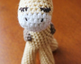 Crochet Giraffe Stuffed Animal (Ready To Ship)