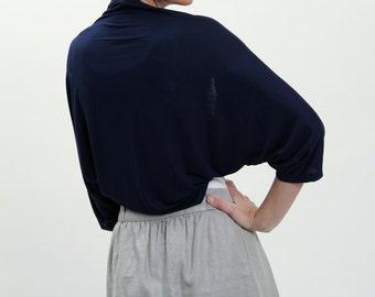 Navy shrugs and boleros, navy evening shawl wrap,  deep blue shrug, navy bridesmaid, shoulder cover up