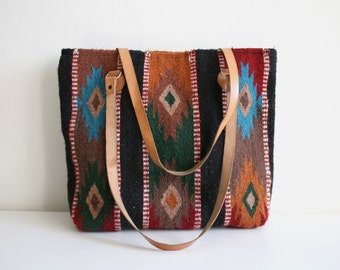 Wool Southwest Textile Tote