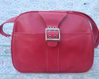 1970s Overnight Bag in Red