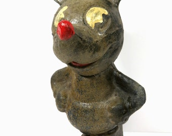 RARE 1930s Paper Mache Mickey Mouse Doll, Antique Mickey Mouse Figure, Toy Collector