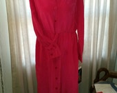 REDUCED Vintage Silk Assets by Diane von Furstenberg 100percent Silk Dress Long Dress Pink Size M Medium-L Large us 12-14 100% silk