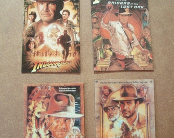 Magnet- Set of 4 Indiana Jones movie poster magnets 4 different Raiders Temple Skull Last Harrison Ford