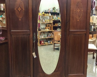 antique furniture armoire. antique armoire with inlay mahogany wardrobe mirror furniture bedroom vintage d