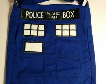 Dr. Who inspired Tardis Messenger Bag - Every Dr. Needs A Bag!