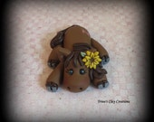Polymer Clay Horse with Flower