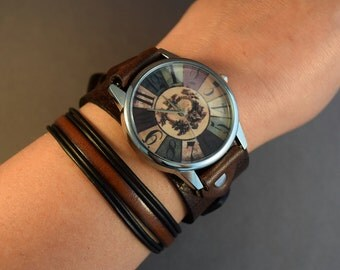 Watch For Women-Retro Watch-Gift For Women-Birthday Gift For Her-Birthday Gift For Friend-Wrist Watch Women-Bracelet Watch-Cuff Watch