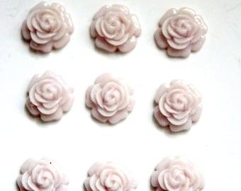 12 pcs Lilac Cabochons, Resin Cabochons, Resin Flower, Resin Rose, Lilac Flower, Lavender Flower Cabochon, Purple Rose, Cabochon Flower