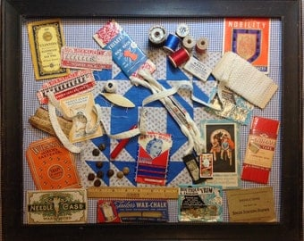 Vintage Sewing Notions for Shadow Box or Sewing Room Decor Over 30 Collectible Notions