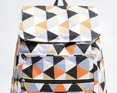 Tribal Triangle Geometric Colorful Backpack