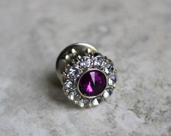 Groomsmen Gift, Purple Wedding, Tie Pin, Purple Tie Tack, Mens Tie Accessories, Tie Clips, Mens Fashion, Tie Tack Pins, Tie Tacks for Men