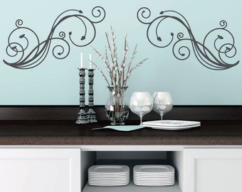 Swirl Wall Decal Etsy - Vinyl decals for walls etsy