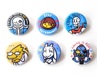 Undertale 6 Button Set