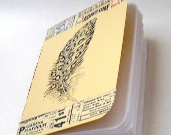 Feather Notebook, Ink Transfer Notebook, Bird Notebook, Woodland Notebook