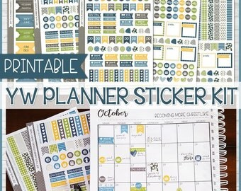 2017 YW PLANNER Sticker Printables, Made 2 Match my Young Women Presidency Planner, lds - Make Any Planner a YW Planner - Instant Download