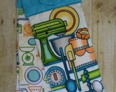 Set of Two Handmade Hanging Kitchen Towels, Kitchen Mixer, Bowls, Pots and Pans, Kitchen Towels, Hanging Towels, Bathroom Towels