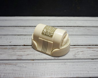 Celluloid Double Ring Jewelry Box