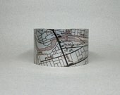 Nashua New Hampshire Cuff Bracelet Map Wide Metal Unique Gift for Men or Women