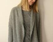 Super-soft grey cashmere cardigan