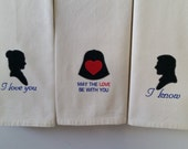 CUSTOM Star Wars Han & Leia I Love You I Know Towel Set