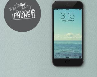 """digital Wallpaper iphone 6 """"Ocean"""" photo water seaside sky clouds summer"""