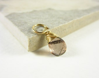 Natural Gemstone Pendant - Genuine Stone Andalusite Jewelry - 14k Gold Wire Wrapped Andalusite Pendant - Healing Crystals and Stones