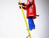 Marx Climbing Fireman Vintage Wind Up Toy