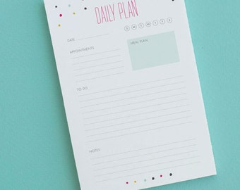 The Daily Plan Notepad | Daily planner | Organizational Tools