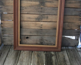 Large Brown Vintage Shabby Chic, Wooden, Picture Frame