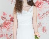 Wedding Dress, Backless, 1930, 1920, Art Deco, Vintage Inspired, CHANDELIER, Long Ivory or White Bias Crepe