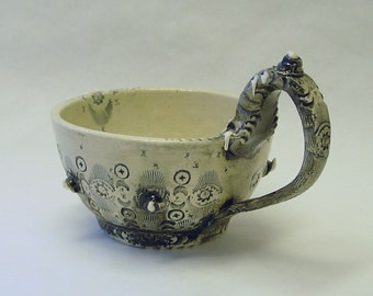Industrial Wedding Cake Bowl with Handle or Cappuccino Mug