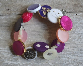 China Button Bracelet - Proceeds Benefit Cancer Research