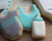 MINIS 3 dozen Little man baby shower cookies