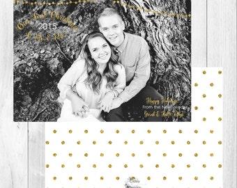 """Photo Christmas Card: First Christmas // 5x7"""" printable"""