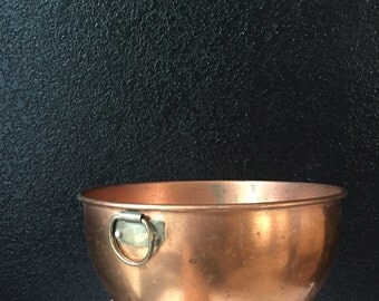 copper hanging deep mixing bowl / french kitchen decor