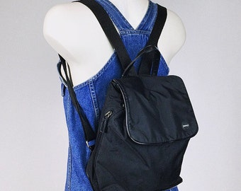 90's Esprit Black Nylon Mini Backpack