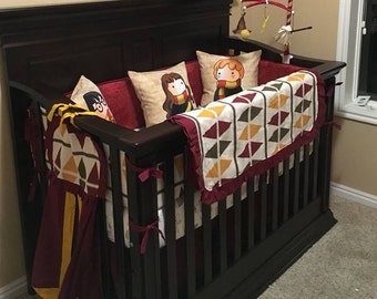 Rustic western crib bedding modern western nursery cow print - Harry potter crib set ...